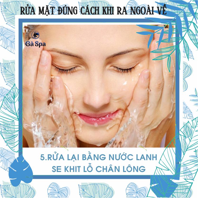 Bước 5: Dùng nước lạnh rửa sạch lại một lần nữa