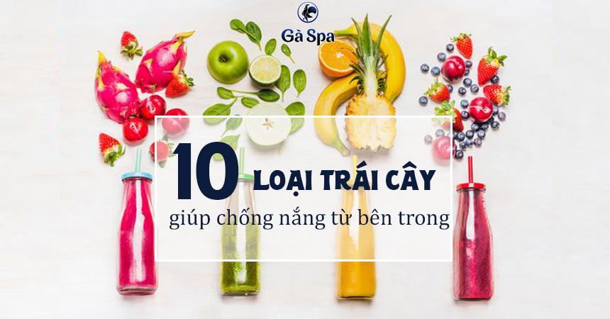 10 loại trái cây giúp chống nắng tự nhiên