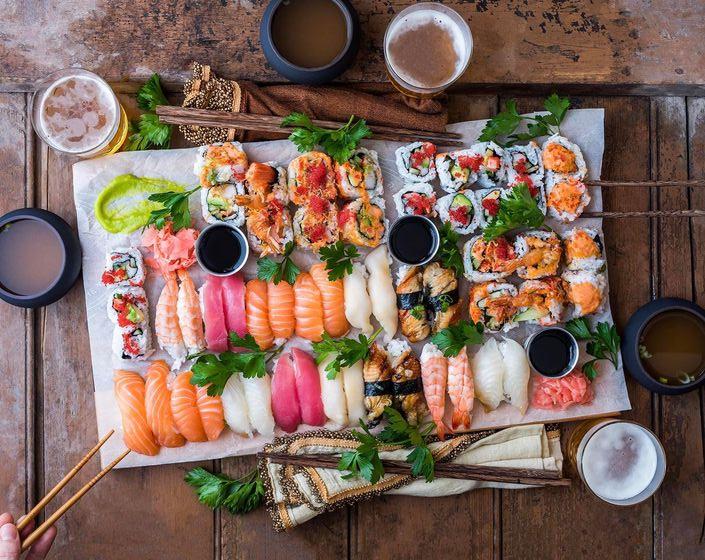 Sushi không tốt cho da