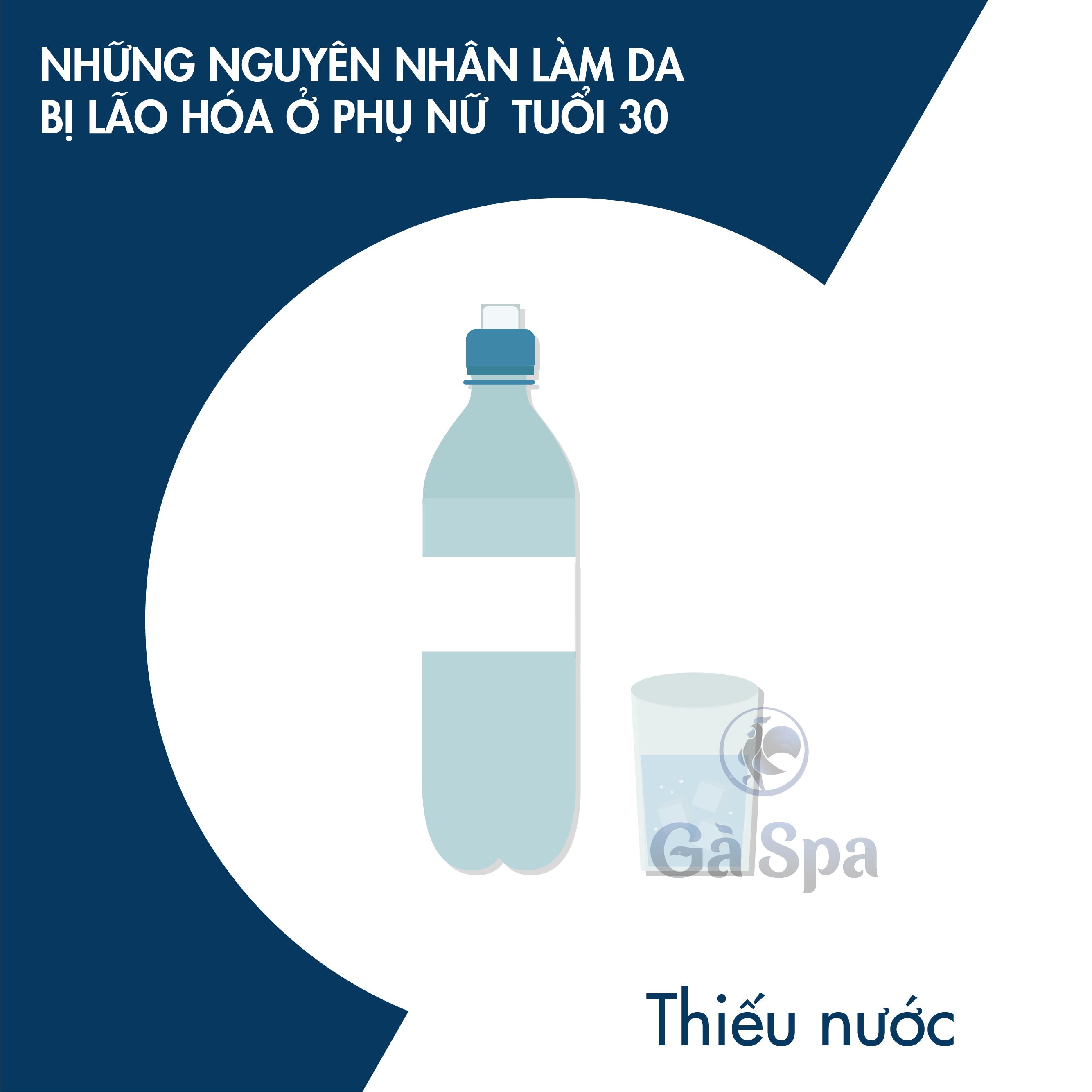 Thiếu nước làm da bị lão hóa tuổi 30
