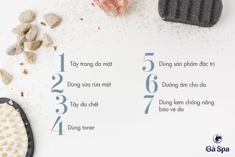 Quy trình 7 bước chăm sóc da mặt tại nhà