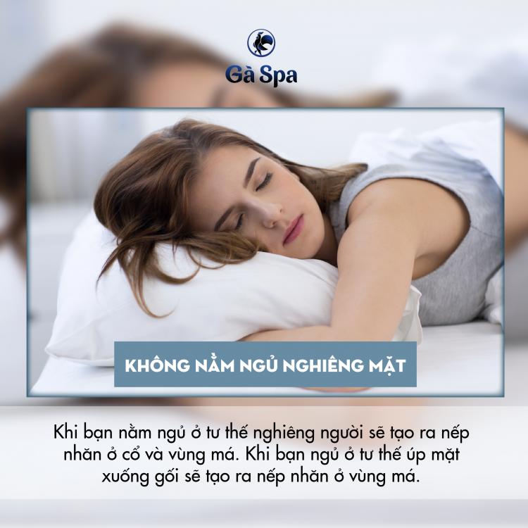 Không nằm ngủ nghiêng mặt