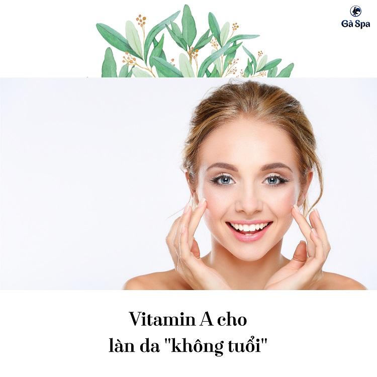 Vitamin A cho làn da không tuổi