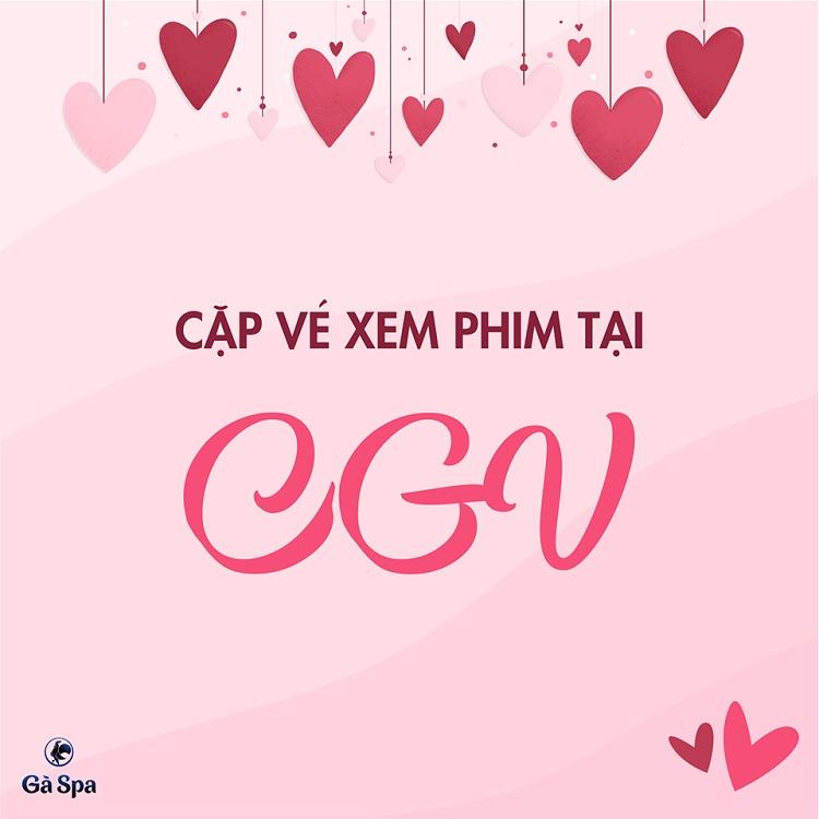 Valentine 2019 - cặp vé CGV