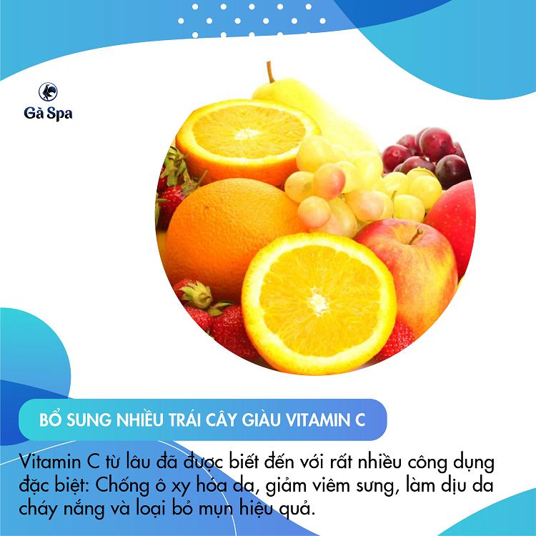 Bổ sung nhiều trái cây giàu vitamin C